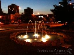 Foto fontána před Cenrálem v Mostě