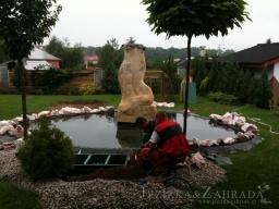 Výstavba jezírka v Souši