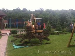 Výstavba jezírka cca 30m3 v Korozlukách