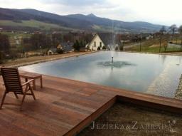 Stavba jezírka Liberec - Minkovice
