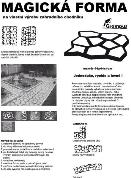 Forma na betonovou dlažbu